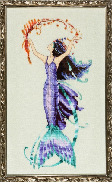 Sea Flora - La Petite Mermaids Collection, схема для вышивания Nora Corbett NC194