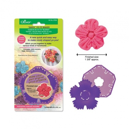 Шаблон Yo-Yo - цветок средний Flower Quick Yo-yo Maker (S), Clover 8706