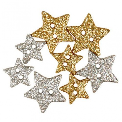 Sparkly Stars, набор пуговиц Favorite Findings 1123